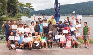 木崎湖カップカヌー2