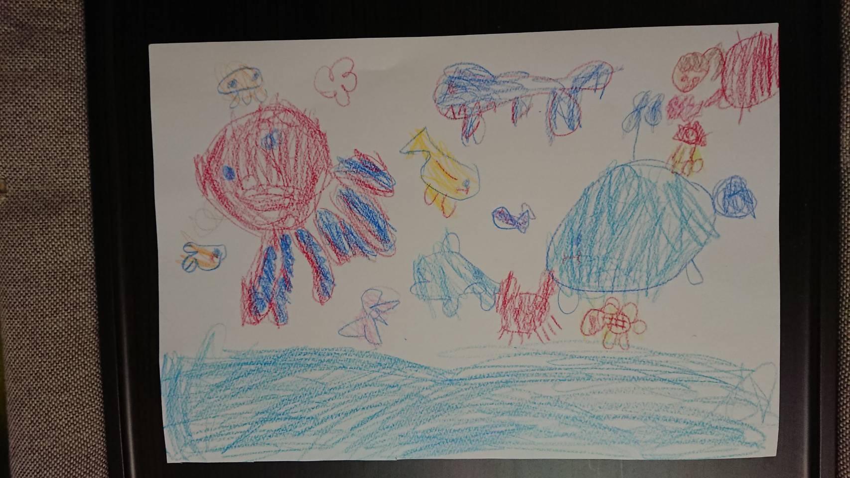 16野沢もあ1年 ひろーい海でクジラのせなかにのって遊びたいな
